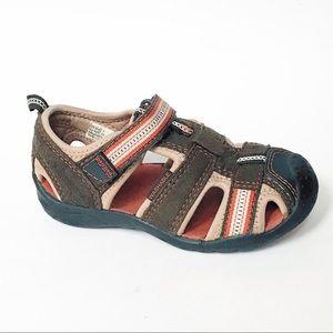 pediped Flex Sahara Sandals Brown Shoes Baby Boy 7
